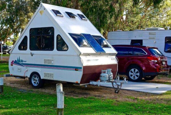 Camper with Solar Panel